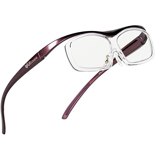 Kenko メガネ型拡大鏡 YUIルーペ レンズ交換式 レギュラーサイズ 倍率1.6倍 パープル KTL-5102R-PR