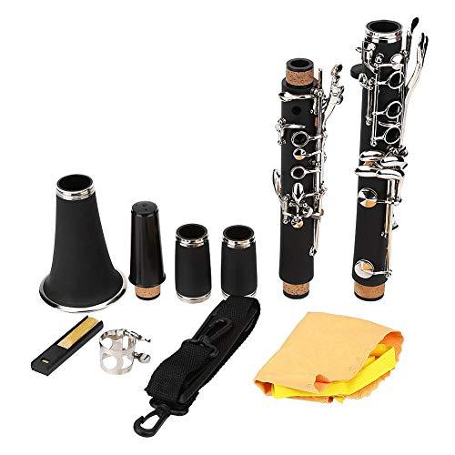 Clarinetto con 17 chiavi discendenti in bachelite, per studenti, con panno per la pulizia