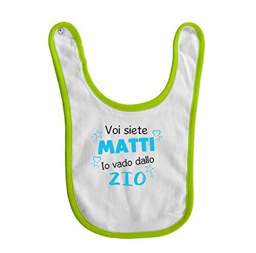 bubbleshirt Bavaglino Neonato Divertente Maschietto Voi Siete matti io vado dallo Zio - Tutina Zio - Taglie da 3 a 24 Mesi