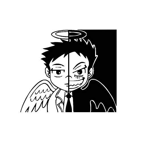 Jinling 13,4 x 11,5 cm, diseño de silueta de ángel diablo, color negro y plateado