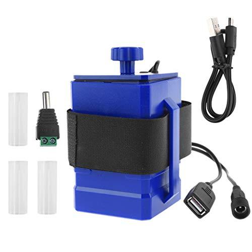 KLOVA Impermeable DIY 3X 18650 26650 Cubierta de la Caja de la batería DC 12,6 V / 5 V Fuente de alimentación móvil de Salida Dual USB para enrutador WiFi de teléfono móvil con luz LED