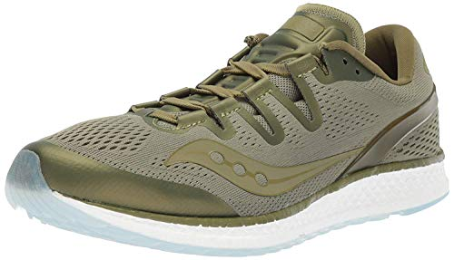 Saucony Women's Freedom ISO Unisex Running Shoe, Olive, 5