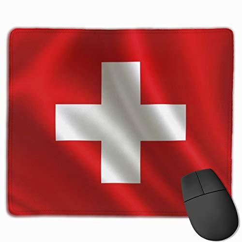 Schweiz flagge serie fahnen welt countryswiss zeichen symbole mousepad rutschfeste gummi gaming mauspad rechteck mauspads für computer laptop (11,8x9,8 zoll)