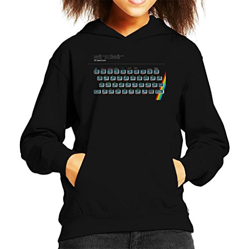 Kids ZX Spectrum Hoodie for ages 3 to 13 years.