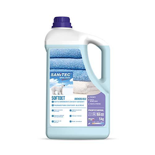Softdet - Additivo Ammorbidente Profumato Igienizzante per Lavaggio a Mano e in Lavatrice - Bianchi e Colorati - Orchidea Blu - 5 kg