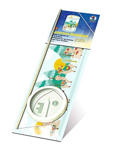 Ursus 7420000 - Laternen Bastelset, Lama, ca. 20 x 15,3 cm, aus Transparentpapier, Set zum Erstellen von selbstgebastelten Laternen, ideal geeignet für den Laternenlauf