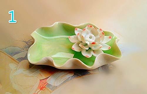 ZFLL Boeddha Home decor Keramische slinger Lotus wierook tafel lotus geur wierook basis