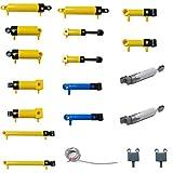 Piezas compatibles con Lego Technic Kit neumático de 19 piezas con bomba de aire, interruptor de varilla de empuje, tubo de aire de pistón para coche técnico, color aleatorio de tubo de aire