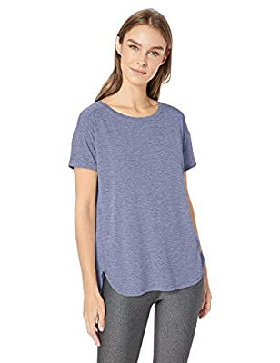 Amazon Essentials Women's Studio Relaxed-Fit Lightweight Crewneck T-Shirt, -night shadow blue, X-Large