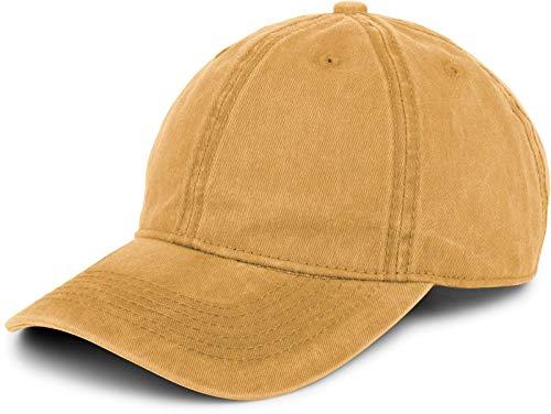 styleBREAKER 6-Panel Vintage Cap im Washed, Used Look, Baseball Cap, verstellbar, Unisex 04023054, Farbe:Senf
