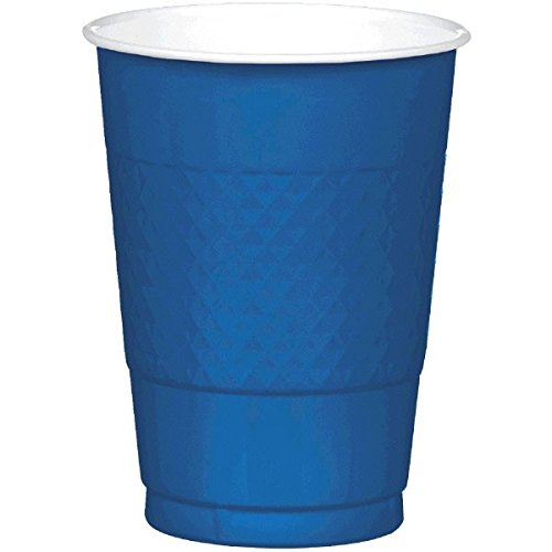 Navy Blue Plastic Cups   16 oz.   Pack of 20   Party Supply