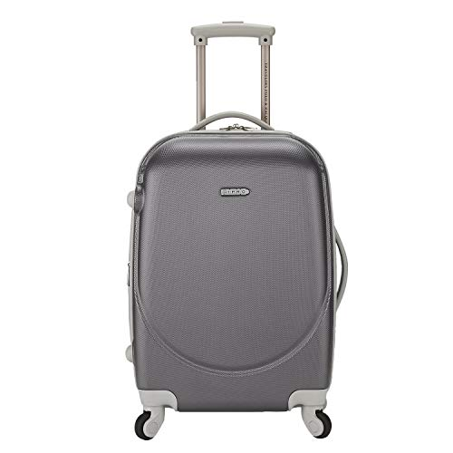 TPRC Barnatt TSA-Lock Spinner Luggage, Neon Silver, 20' Carry-On