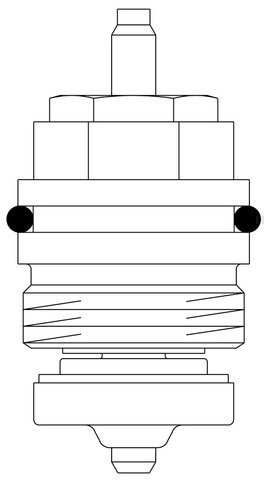 Oventrop Ventileinsatz Baureihe AZ, E, RF für Ventile M 30 x 1,0-1998 DN 10-32
