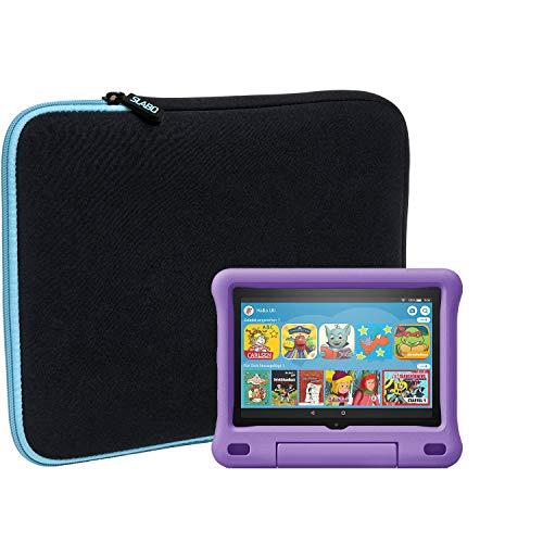 Slabo Tablet Tasche Schutzhulle fur Amazon Fire HD 8 Tablet Fire HD 8 2018 mit Alexa 203 cm 8 Fire HD 8 2020 etc Hulle Etui Case Phablet aus Neopren TURKISSCHWARZ