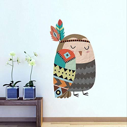 DQGZYF Pájaro de Color extraíble PVC Pegatinas de Pared Sala de Estar Dormitorio Fondo Pared Papel Autoadhesivo 55,5 * 32 cm