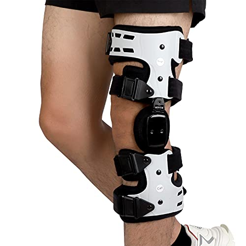 Orthomen OA Unloader Knee Brace - Support for Arthritis Pain, Osteoarthritis, Cartilage Defect Repair, Avascular Necrosis, Tibial Plateau Fracture (Medial / Inside - Left)