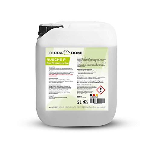 Terra Domi Rusche P Steindusche, 5 L, Steinreiniger für bis zu 2000 m², Reinigungsmittel für saubere Wege & Plätze, Wegerein, biologisch abbaubar