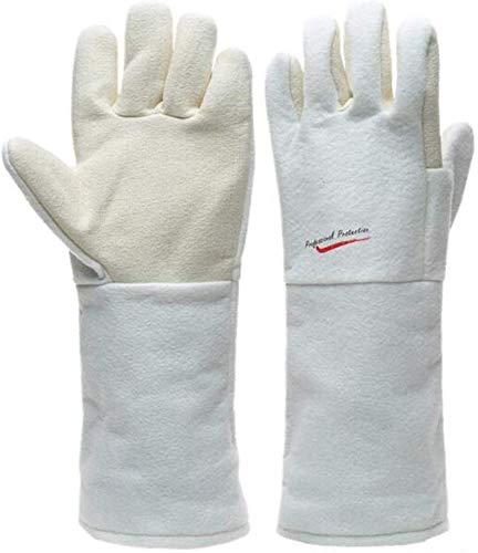 ZFZ Hochtemperaturbeständige Handschuhe 300 ° Ofen Isolierung Antiverbrühschutz Baking Handschuhe, 45cm