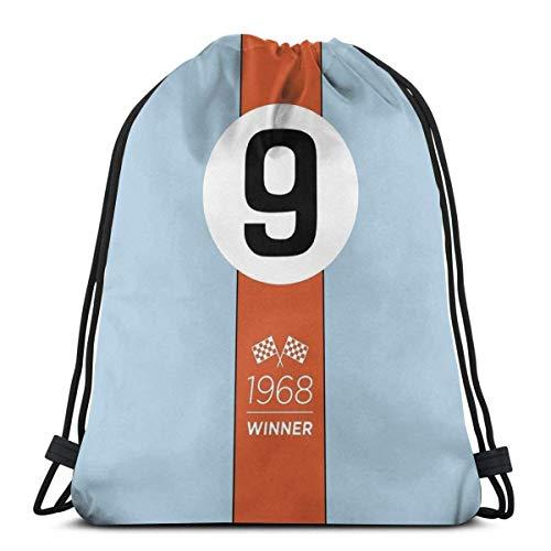 1968 Race Winner #9 Mochila con cordón para deporte