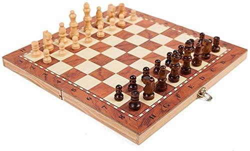 BRFDC Schach Schach-Set magnetische Reiseschach Set für Erwachsene Kinder, die Portable Schachspiel Falten (Color, Size : 39 * 19.5 * 3.3CM)