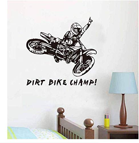 Lustige Zitate Dirt Bike Feld Wandtattoos Motorrad Kreative Vinyl Wandaufkleber Abnehmbare Motorrad Aufkleber 58 Cm X 62 Cm