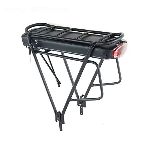 SHIJING Cargo elektrische fiets 36 V 10 Ah / 13 Ah lithium-ion accu voor 36 V 8FUN BBS01 BBS02 E-fiets-accu met bagagedrager