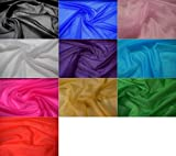 Fabrics-City REINWEIß Stretch FEIN Netz Stoff Glitzer