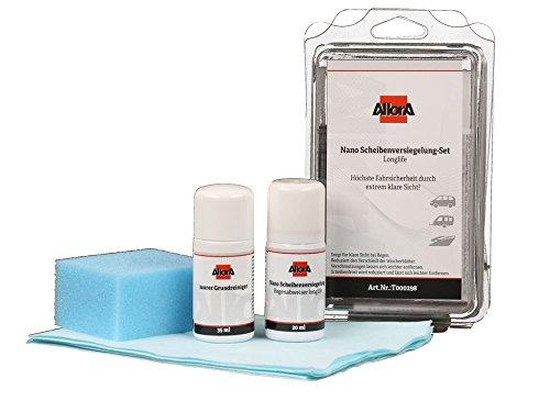 AllorA Scheibenversiegelungs-Set Nano Regenabweiser 20ml, Reiniger 35ml, Tuch, Pad (ehemals Kerona Scheibenversiegelung)