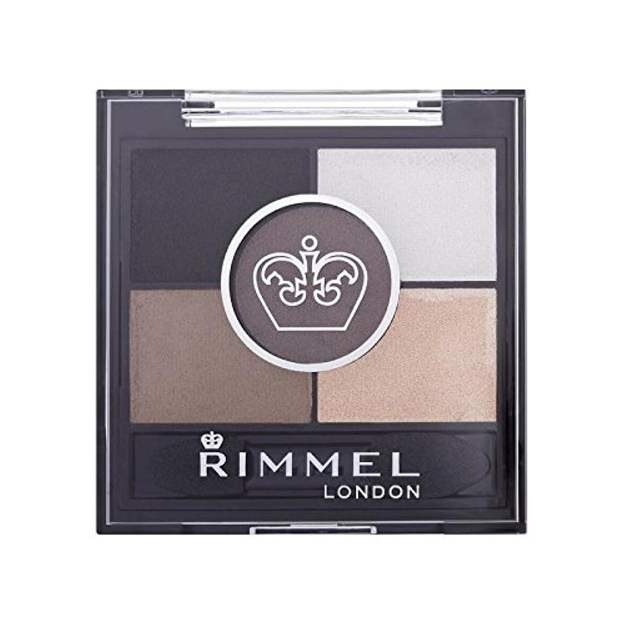 舌評決スキムリンメル5パンアイシャドウ霧グレー x4 - Rimmel 5 Pan Eyeshadow Foggy Grey (Pack of 4) [並行輸入品]