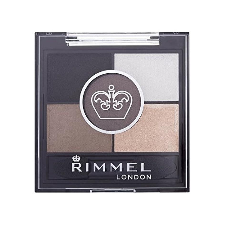 くるくる近く人形Rimmel 5 Pan Eyeshadow Foggy Grey - リンメル5パンアイシャドウ霧グレー [並行輸入品]
