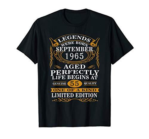 September 1965 55th Birthday Gift 55 Years Old Men Women T-Shirt