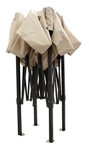 All Seasons Gazebos 2x2 Fully Waterproof Pop up Gazebo With Accessories - Beige