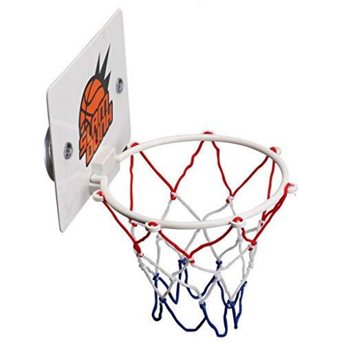 ZDNB Mini Tablero de Baloncesto Colgante cestas para Interiores y Exteriores Juguetes para Juegos para niños, Canasta de Tiro de Baloncesto montada en la Pared (Tipo Ventosa), Blanco, 16,2 cm × 12 cm