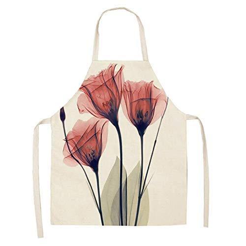 Weimay. Etanche Tablier de Cuisine en Polyester pour pour Femmes Hommes Chef L'impression des Plantes est Simple et Elégante