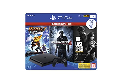 Playstation 4 Ps4 - Consola 1Tb + Ratchet & Clank + The Last Of Us + Uncharted 4