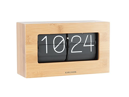 Karlsson - Tischuhr - FLIP - Clock Boxed Bambus