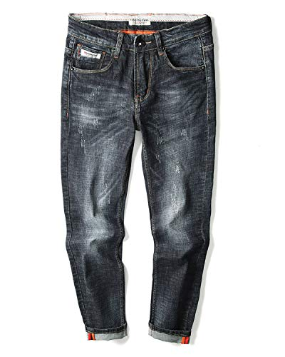 HYYH TAYLOR Straight fit Jeans for Men Black Straight Fit Jeans (31, Black)