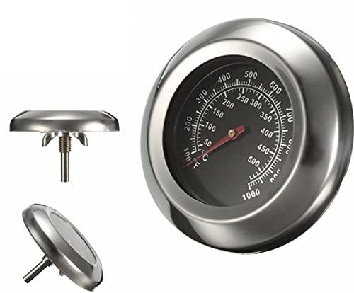 Termometro per Barbecue Affumicatore Forno Grill 50-550 Gradi Nero Inox