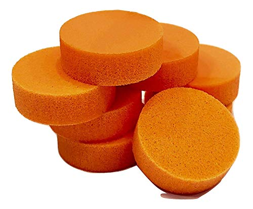 PolySound Sylo High-End Lautsprecher Füße, Schwingungsdämpfer 8er Set orange 5-10kg - materialschonend mit Wasser geschnitten - Nicht gestanzt - Made in Germany