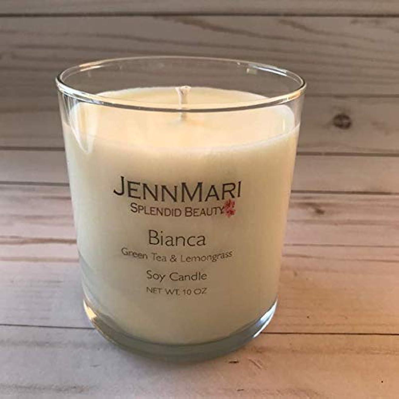 Splendid Beauty   Green Tea & Lemongrass Scented Soy Candle Glass Jar   10 Oz   Handmade   Eco-friendly   Vegan   Cotton Wick   100% Soy Wax
