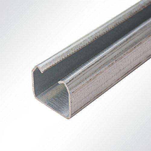 LYSEL Laufschiene verzinkt 35x30mm bis 100 Kg Schiebetor Schiebetür Hallentor 2 Meter