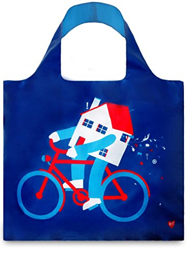 Loqi AR.RT.MH Artists - Borsa Shopper con Design Artistico, Motivo: cambiando casa