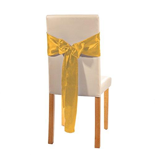 Smartfox Stuhlschleife Schleifenband Deko Schleife 2,45m in Ockergelb