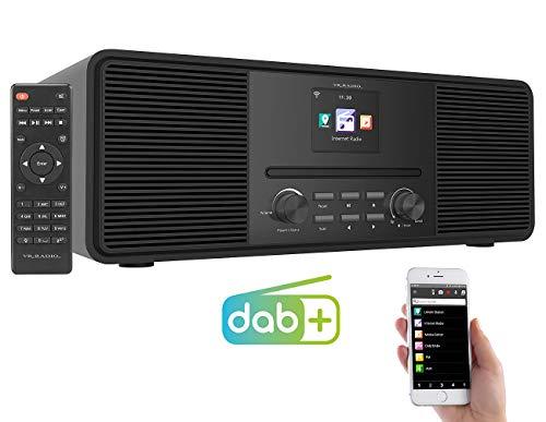 VR-Radio Digitalradio: Stereo-Internetradio mit CD-Player, DAB+/FM & Bluetooth, 40 W, schwarz (Internet Radio CD)