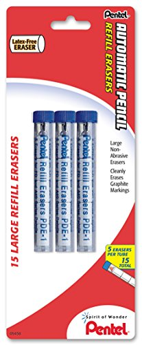 Refill Eraser for AL, Ax and PD Series Pencils 5 Pcs/Tube, 3-PK
