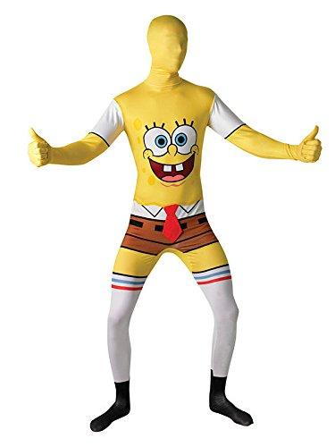 SpongeBob Second Skin Suit Lizenzware gelb weiss L