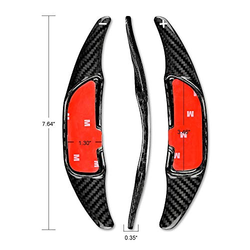 AIRSPEED Carbon Fiber Steering Wheel Paddle Shifter Extensions Cover shift paddles Interior Trim Accessories for Mercedes Benz AMG C63 W205 E63 W213 C43 A45 G63 S63 GLA45 GLS63 (Black)