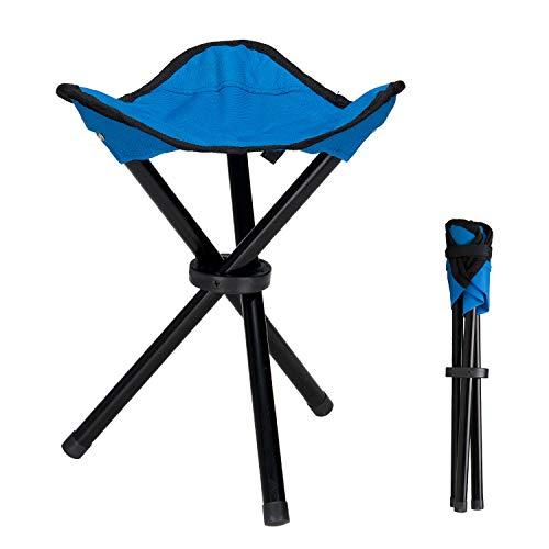 Lysport Taburete de trípode al aire libre Portable plegable pequeño 3-Legged silla...