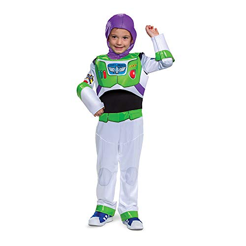 Buzz Lightyear Adaptive Costume for Kids, Official Adaptive Pixar Toy Story Costume with Accessibility Features, Classic Size Extra Small (3T-4T)