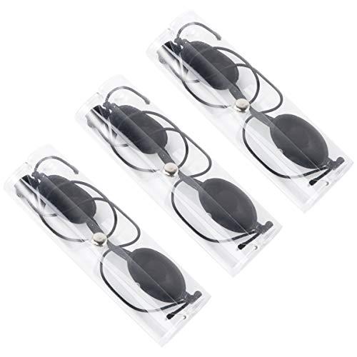 EXCEART 3 Set UV Solarium Schutzbrille Solariumbrille Sonnenschutz Brille für Sonnenbank Beauty Patienten Sonnenbrille IPL Behandlung LED Lichttherapie